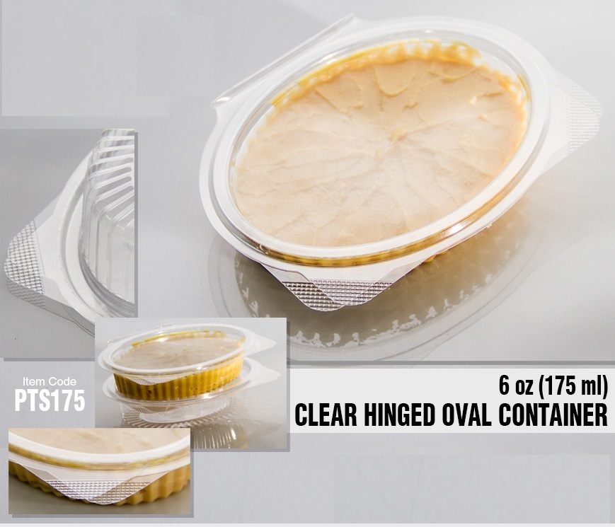 Disposable Clear Container with Lid for Food Packaging