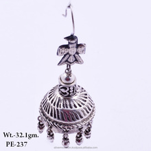 925 Sterling Silver Designer top Jhumka Oxidised Earring