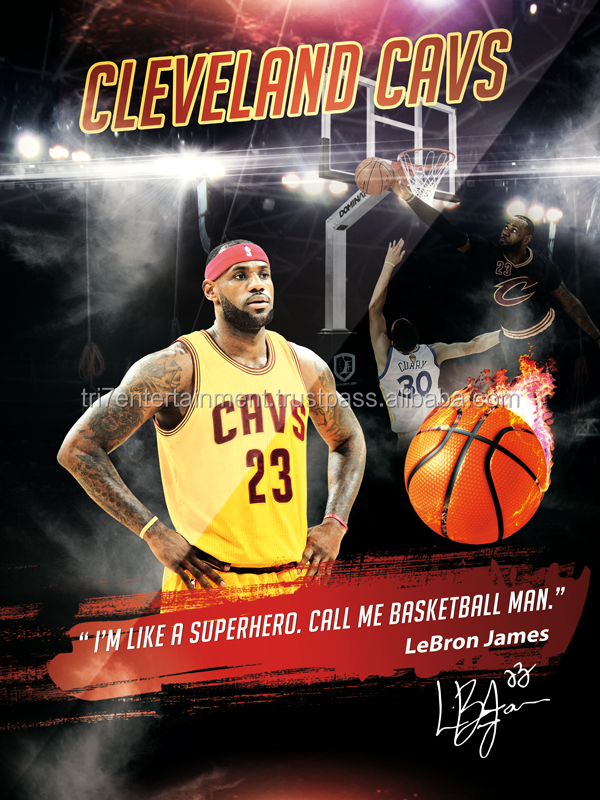 LeBron James Poster I'm Like A Superhero Basketball Man Cavs Art Print (18x24) - African American