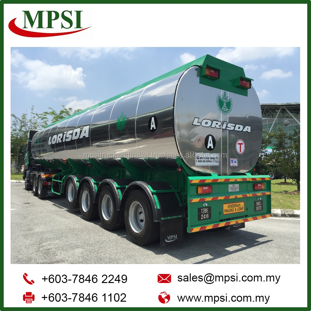 Palm Oil Road Tanker Trailer Truck