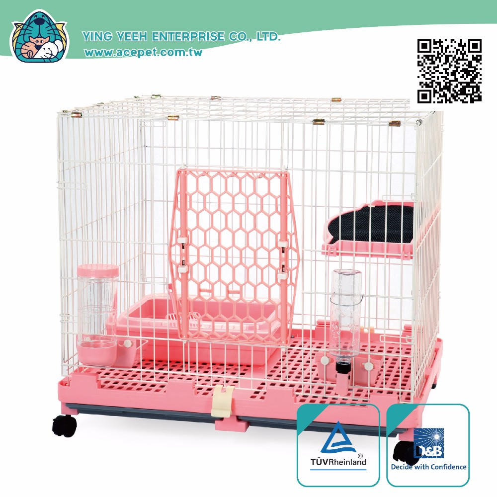 Taiwan design Easy Set-Up plastic indoor Cat Pet Wire Cages