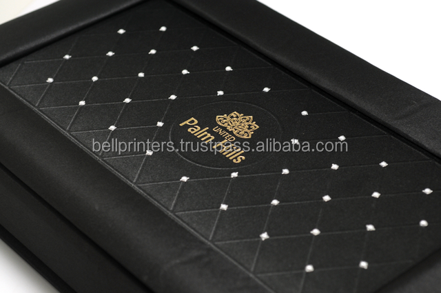 Soft touch & Feel Luxurious Indian make Rigid Gift box with Special Effect Gold stamping