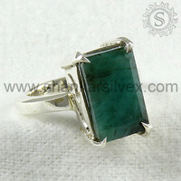 Marvelous Design !! 925 Emerald Sterling Silver Ring /Gemstone Cheap Silver Jewelry RNCT2035-8