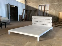 White Acacia Wooden Platform Beds beautiful King-Size