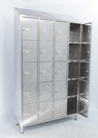 20 door pigeonhole locker in 470LI-24Cr, AISI 304 or AISI 441 stainless steel