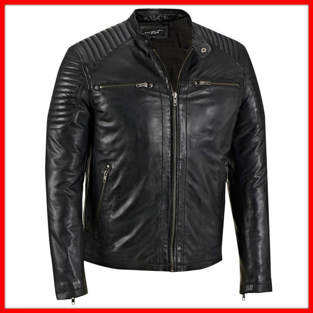 blue fashion pu leather jacket made in china for young ladies