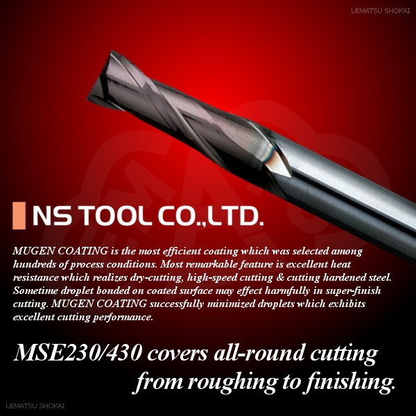 Various type of solid carbide end mills made in Japan for wholesale