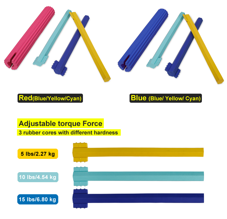 High Quality Coloful Rubber Cores With Different Hardness Adjustable Training Equipment Power Twister