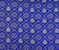Blue 42 Wide Quilting Cotton Bandhani Printed Designer Craft Fabric By The Yard FBC6509