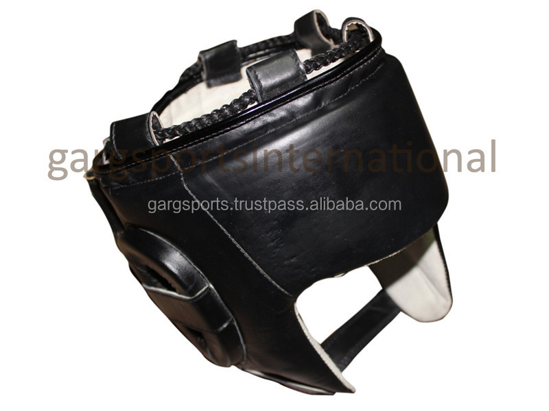 Leather Boxing Head Guard for head & cheek protaction
