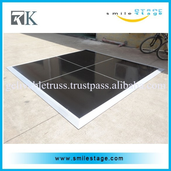 high quality black color dance pond PVC dancing floor