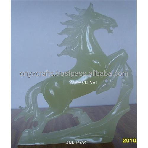 Hand Carved Onyx Horse Figurine