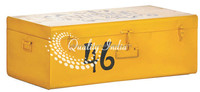 Yellow Color Metallic Storage Trunk Box