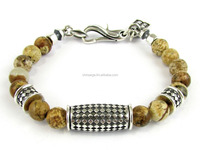 MSecret silver bracelet with brown jasper