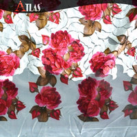 Rose Design Laser Cut Chiffon Embroidery Lace Fabric