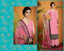 Artistic Pink Cotton Satin Designer Palazzo Suit/Designer Suits Shopping