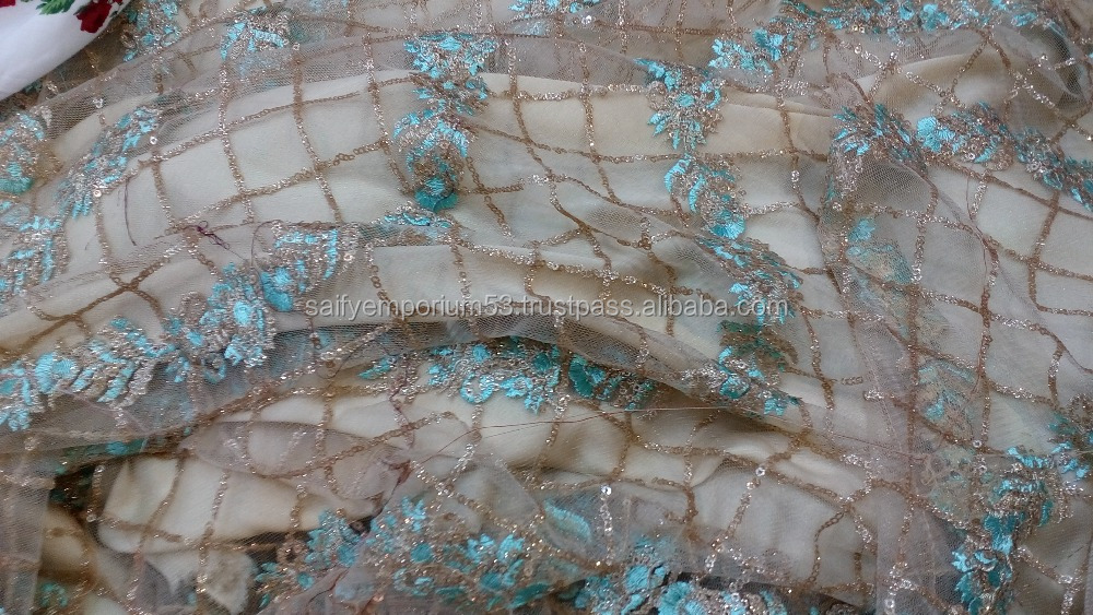 Beautiful Embroidery Lace Fabric Dubai Bridal French Lace Fabric Wedding Dress lace suppliers