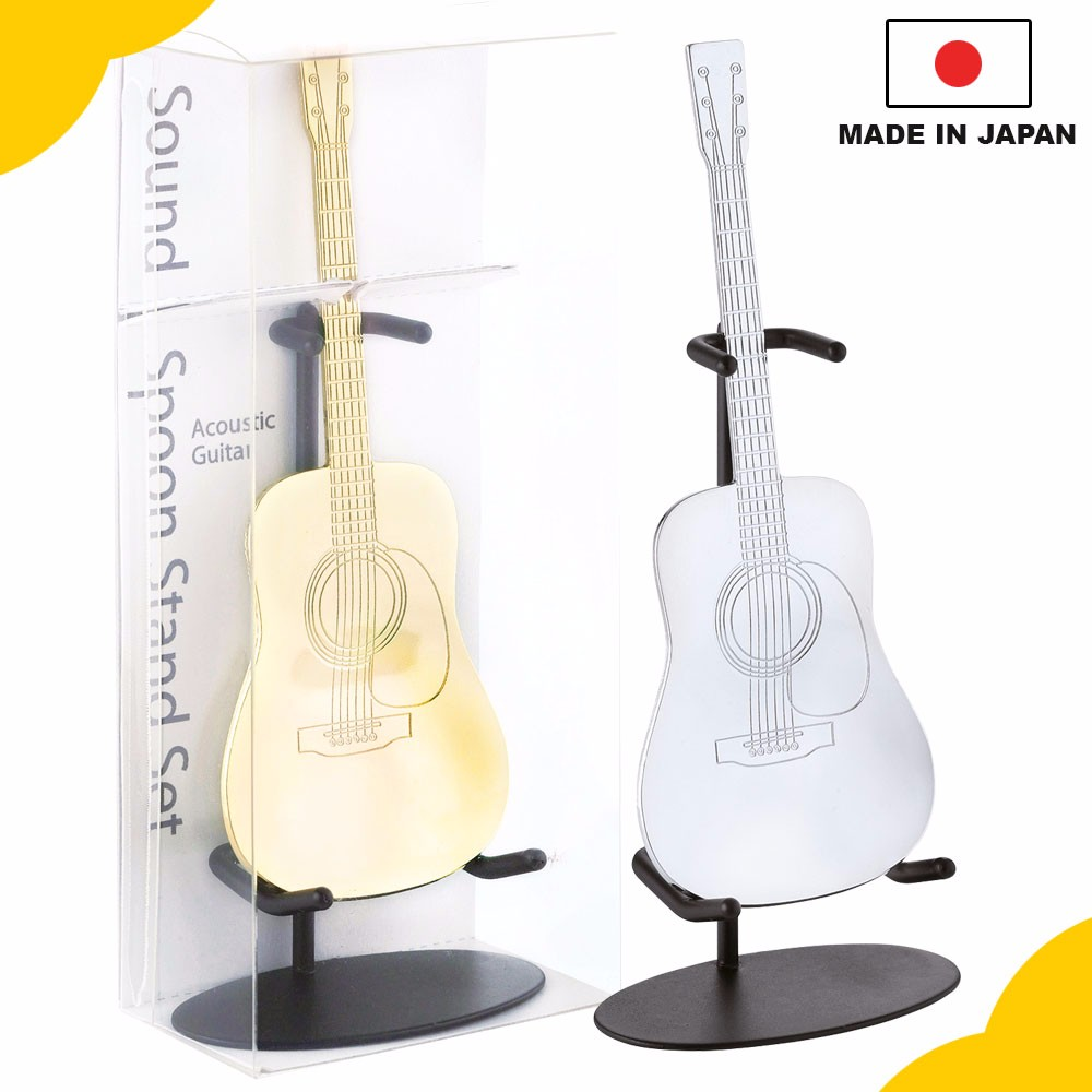 "Popular and hot-selling gift items for men, ""LP and Acoustic Guitar Shaped Spoon"" with great craftsmanship made in Japan"