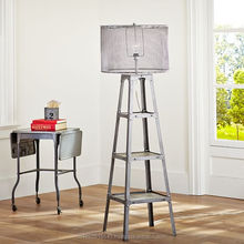 Industrial Floor Lam, Metal Floor Lamp with Display