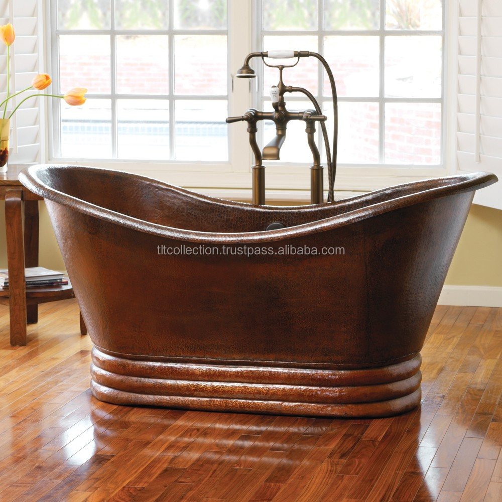 Copper Bath Tub , 100% Pure copper bath tub , Copper tub for hotel and resort