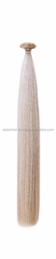 Top Grade Human Hair Fusion I/stick Keratin fan Tip Remy Uzbek Human Straight Hair Extensions