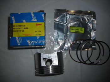 PISTON KIT 1.00mm FOR BAJAJ DISCOVER 125