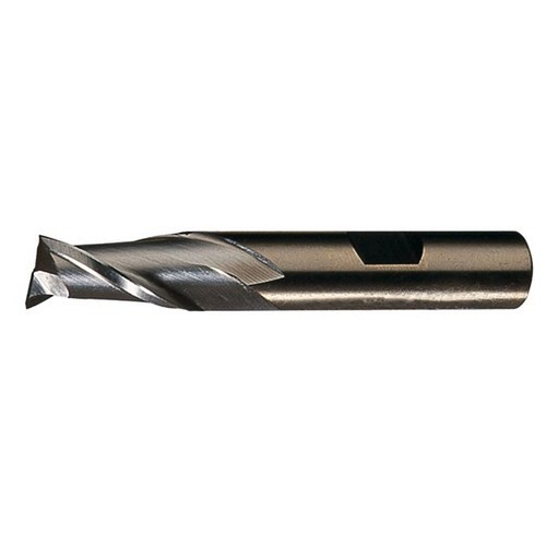"Cleveland C32543, .3906"" Cobalt Single End 2-Flute Center Cutting Finisher End Mill, TiCN Surface Condition"