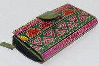 Designer handcrafted zippered passport card holder soft leather clutch money pouch envelope