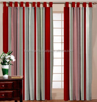 Traditional Wall Decorate Cotton Stripe Curtain / shower striped curtain with matching window curtain