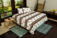 Indian Double Bed Size Jaipuri cotton Bed sheet