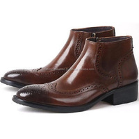 Mens fashion dress shoes party wear boots mens shoes