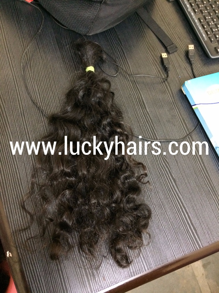 100% natural indian human hair price list, raw indian temple hair, virgin raw indian curly hair