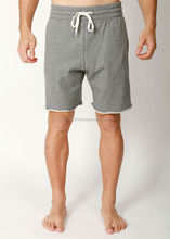 Raw Edges Grey Men Fleece Shorts Cotton Training Sweatpants Gym Raw edges fleece gym shorts