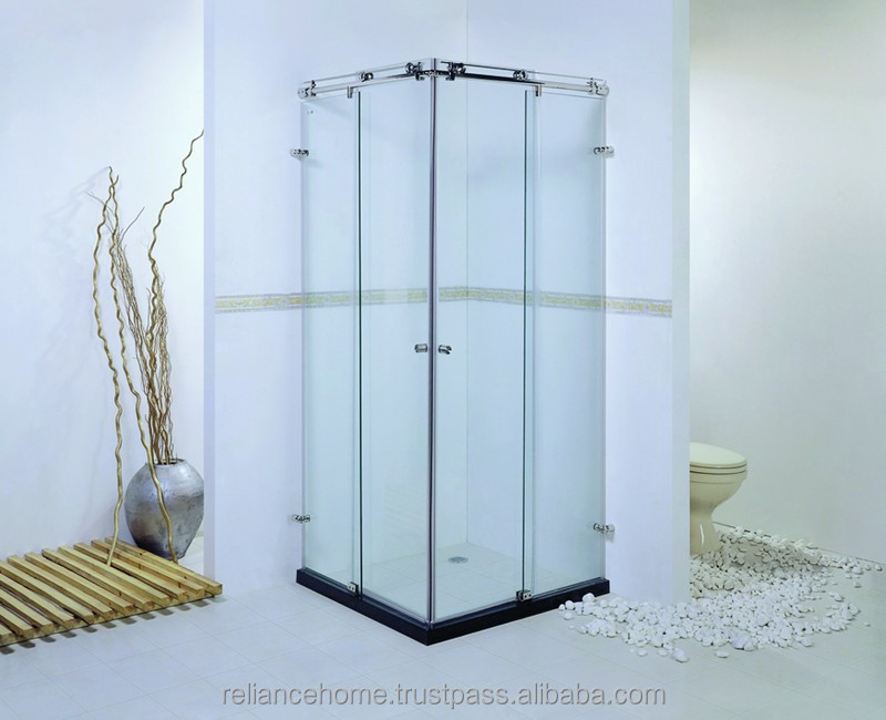 Reliance Home KK-T11 Sliding frameless half round shower tube