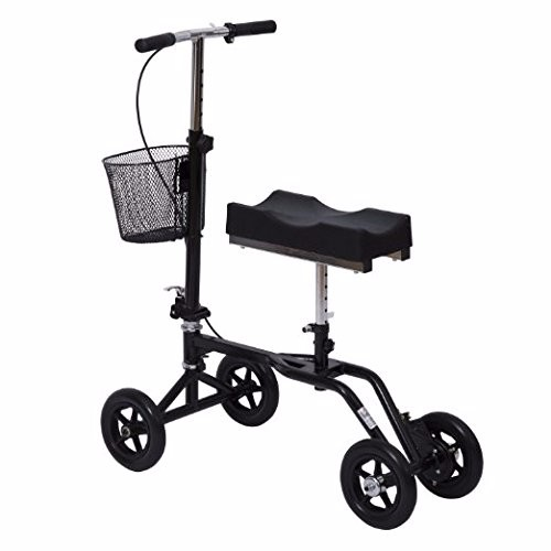 2018 new launch steel knee scooter knee walker with basket for rehab use