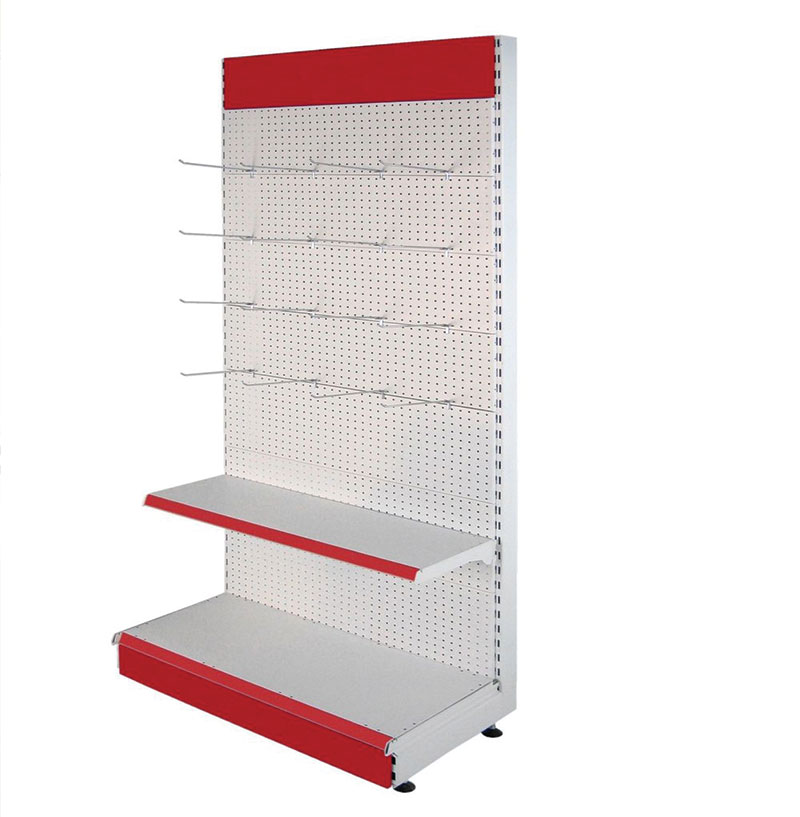 Single-Sided Perforated Wall Rayon Supermarket Shelves