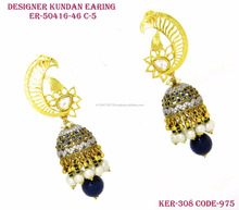 Fashion Jewelry half Heart Elegant Earring Maded crystals from shubham creation