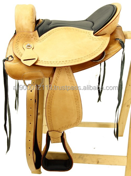 Western barrel racing saddle western treeless saddle