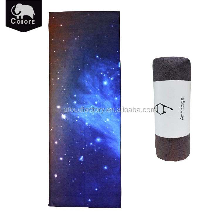 Custon design galaxy pattern China buy cheap printed microfiber yoga towel