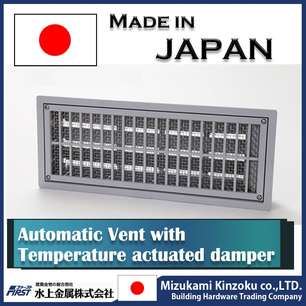 convenient and Automatic ventilation outlet with temperature actuated automatic damper at reasonable prices