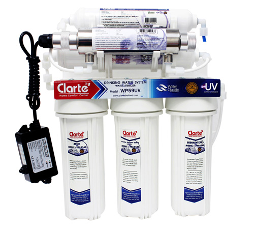 Six stages water filter Clarte' WP59UV
