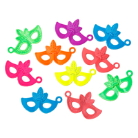 Charm Pendants Mask At Random Spray Painted 26mm x 16mm,30PCs
