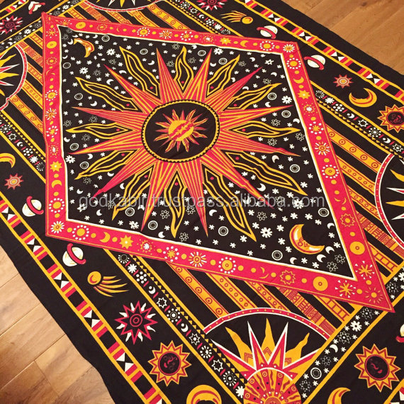 Wholesale round Bed Spread Throw Wall Hang Tapestry Hippy Mandala Exotic Moon bedsheets