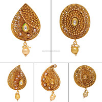 Wholesale Oval Shape Kundan Polki Brooch Sari Pin 5 Pec.Combo Pack