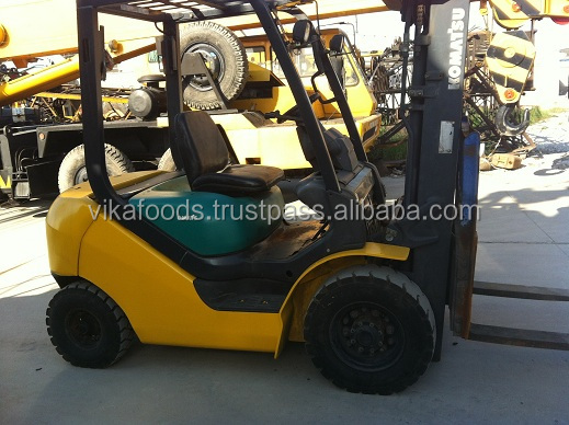 Hot sale secondhand /used 2.5t Komatsu FD25 forklift original from Japan with good condition and best price