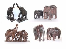 Decorative Wooden Handicraft Carved Elephant