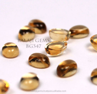 Top Quality Factory Citrine Gemstone Cabochon 7x7mm Stone for Jewelry