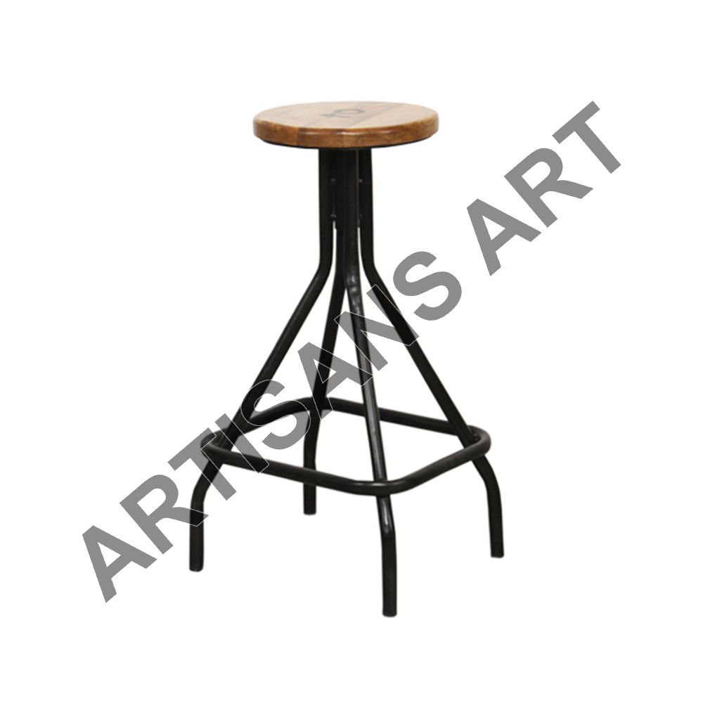Antique Appearance Vintage Industrial Stool, Swivel Adjustment Seat, Living Room Furniture, Available in Color Variants