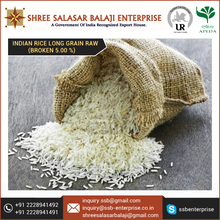 Grown with Organic Techniques Indian Rice Long Grain Raw for Tasty Food Recipes