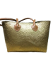Best selling gold seagrass plant beach bag with leather handle